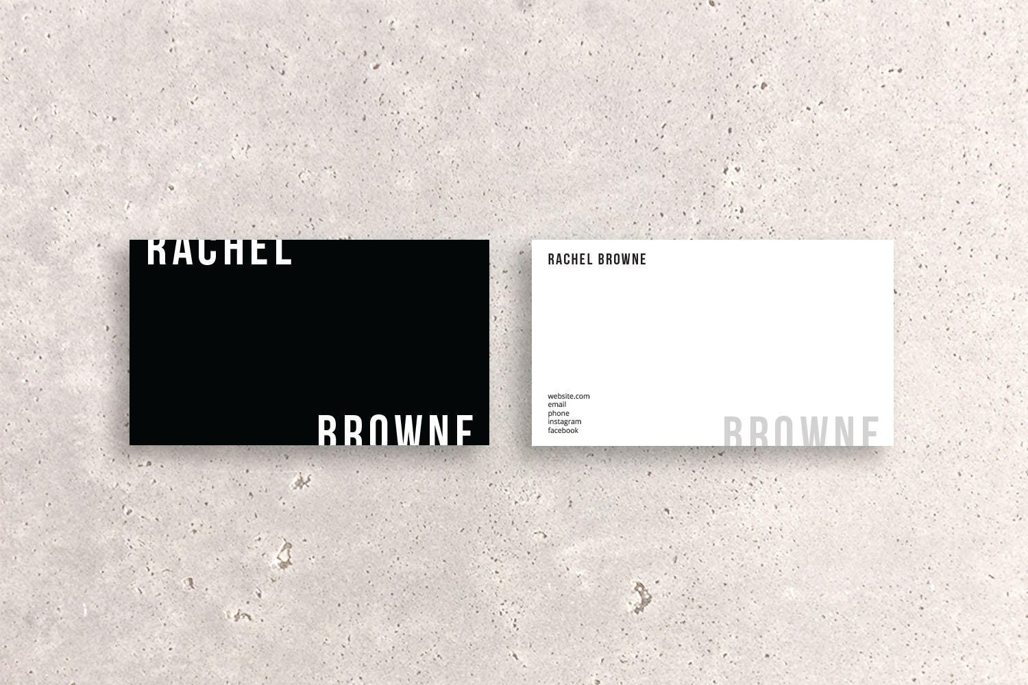 Modern Double-Sided Business Card Template Two-tone