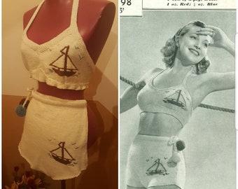 1940 's Vintage Swimsuit