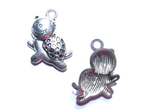 LAST set - 20 mm silver x 5 spiral metal charms