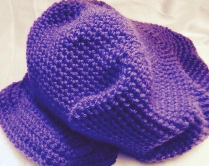 Adult newsboy style cap