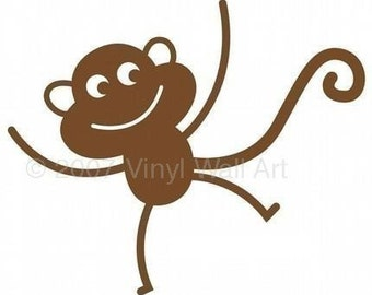 Monkey Vinyl Wall Decal - Set of two SMALL