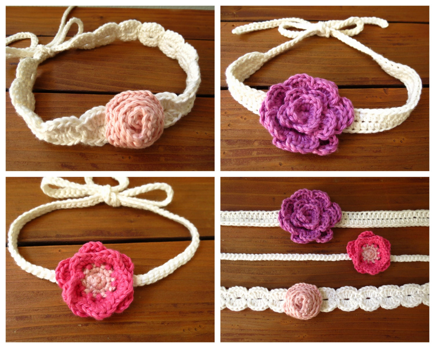 Crochet Flower Headband Pattern - Crochet Patterns by Deborah O ...