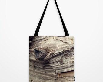 Photo Tote Bag Decorative Wood Bag Brown Rustic Tote Bag Choose Your Size
