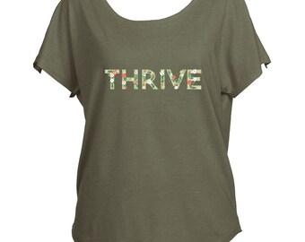 Thrive Next Level Triblend Dolman Tee