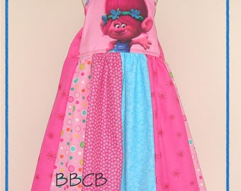 Girls READY TO SHIP TR0ll Dress - sz 6 7 maybe 7/8 - Birthday Party - Pageant ooc -
