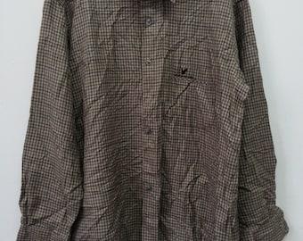Rare Vintage Lyle & Scott polo long sleeve Shirt tee Size L