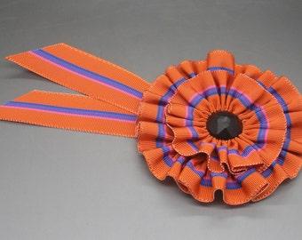 Orange Blue Pink and Purple Rosette Military Pirate Cocarde Cockade
