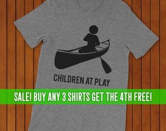 Canoeing T-Shirt, Canoe Shirt, Unisex T-Shirt, Women's Canoeing Shirt, Men's Canoeing Shirt. Children at Play