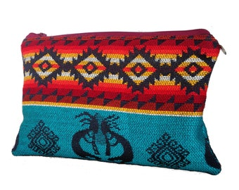 Zipper Pouch / Make Up Bag /Handmade Pouch / Fully lined Pencil case /Zipped pouch / Andean Textile Make Up Bag