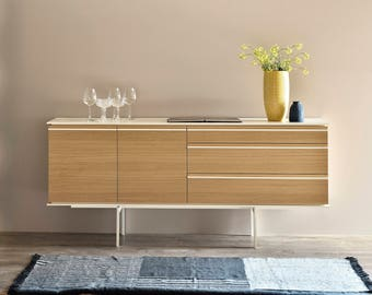 "Natural Oak Wood Sideboard ""Line"""