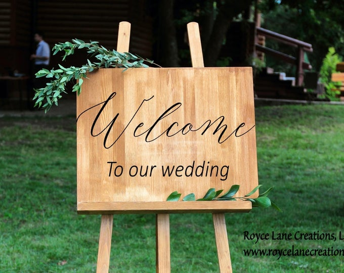 Wedding Signs Decals- Wedding Decals - Welcome Wedding Sign - Vinyl Wedding Decal - Vinyl Wedding Sign - Vinyl Welcome Wedding Signs