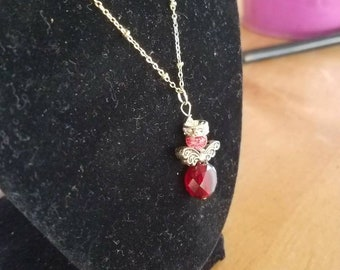 Birthstone angel necklaces, for mothers day.