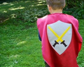 Medival Knight Capes kids Costume Cape knights Perfect for Mike the Knight Fans