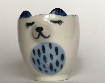 Little Bear Blue Teacup