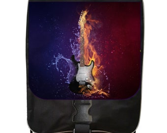 Fire and Water Guitar - Black School Backpack