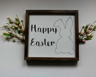 Custom hand painted easter wood sign