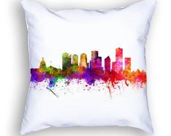 Edmonton Pillow, 18x18, Edmonton Cityscape, Edmonton Alberta, Throw Pillow, Cushion Home Decor, Gift Idea, Pillow Case 02