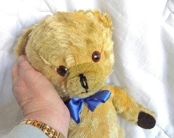 Vintage Mohair Bear - 1960's Pedigree Teddy - Bells in Ears