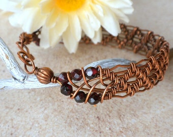 copper twist with twisted pin stacking bangle square antique bracelet wire