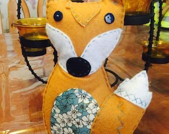 Cute Felt Fox with Flowers