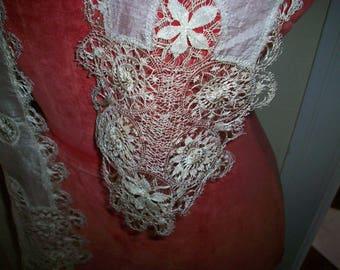 Finest Maltese lace silk scarf/lappet