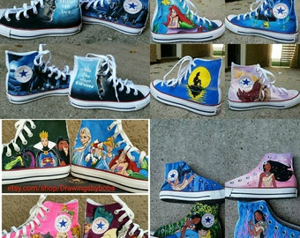 Hand Painted Converse : Your Choice of characters