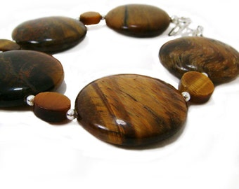 Wild Side - Brown Tiger Eye Stone Chunky Bracelet