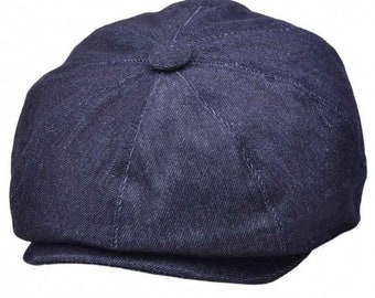 Peaky blinders hat G&H Denim Newsboy Cap - Blue