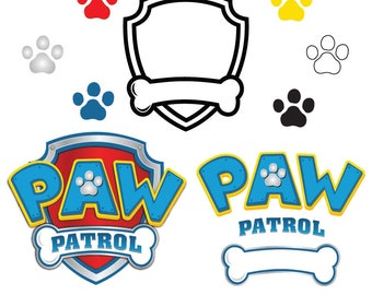 Paw Patrol SVG, paw patrol logo, clipart ,svg, EPS, dxf, PNG-for cameo Silhouette, Cricut, cutting file