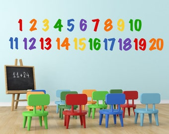 Educational Wall Decals - Number Wall Decals - Numbers Wall Decoration - ABC 123 Decals - Kids Room Decals