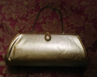 Stylish Vintage Gold Evening Bag!