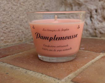 """Grapefruit"" vegetable wax scented candle"