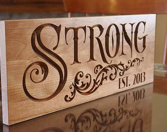 Personalized Last Name Wood Sign, Lake House Sign, Custom Wood Signs, Kitchen Sign, Benchmark Signs, Benchmark Custom Signs, Cherry SN