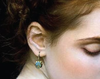 18k Opal Roman Earrings Handmade