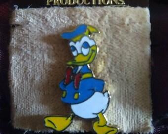 "Authentic ""Walt Disney Productions"" Donald Duck Pin on Original Cardstock"