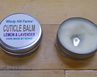 Cuticle balm hand made at windy hill by renee