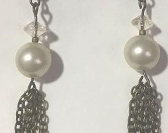 Pearl Fringe dangle earring