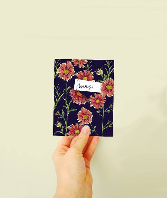 Plant the card and watch grow - Flowers! Wildflower seed greetings card - made with seeds - greetings card - blank note - thank you card