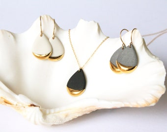 Gold Dipped Teardrop Earrings