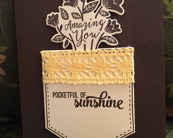 sunshine, handmade card