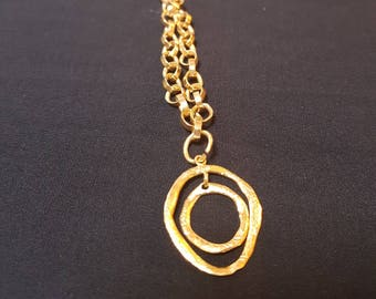 Gold-filled rings necklace