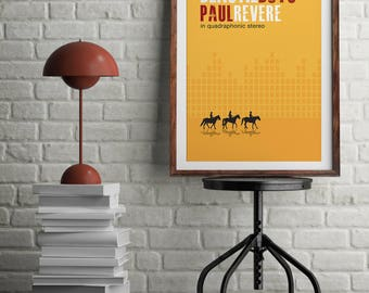"Original Print Inspired by The Beastie Boy's ""Paul Revere"""