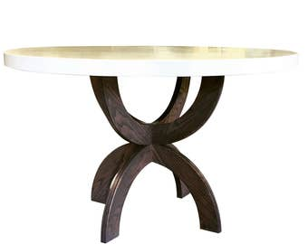 Double U Concrete Dining Table