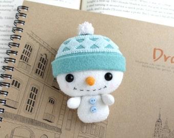 PDF Pattern - Felt Snowman Nogget Plush