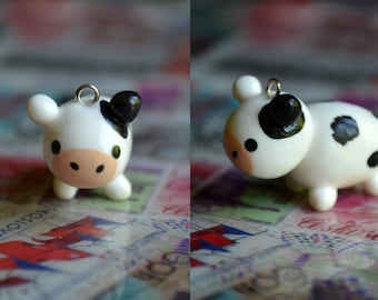 Cow Animal Charm - Kawaii Polymer Clay