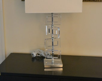 Lucite Lamp, MCM style