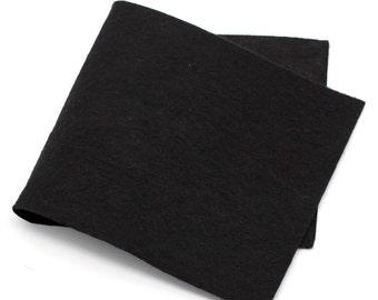"""20 PCs Felt Fabric Rectangle Black 30cmx15cm(11 6/8""""x5 7/8"""")"""