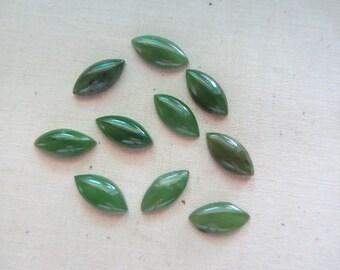 Nephrite Jade Cabochons 50 stones