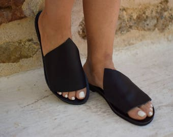 Sandals, Leather sandals, Handmade mule sandals, Womens sandals, Gifts, Greek sandals, Womens shoes, Summer shoes