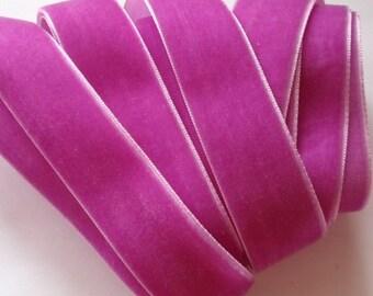 5 yards 7/8 inches Velvet Ribbon in Ultra Violet RY78-079